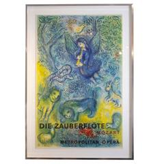 After Chagall Metropolitan Opera Lithograph Die Zauberflote Mozart France 1960's