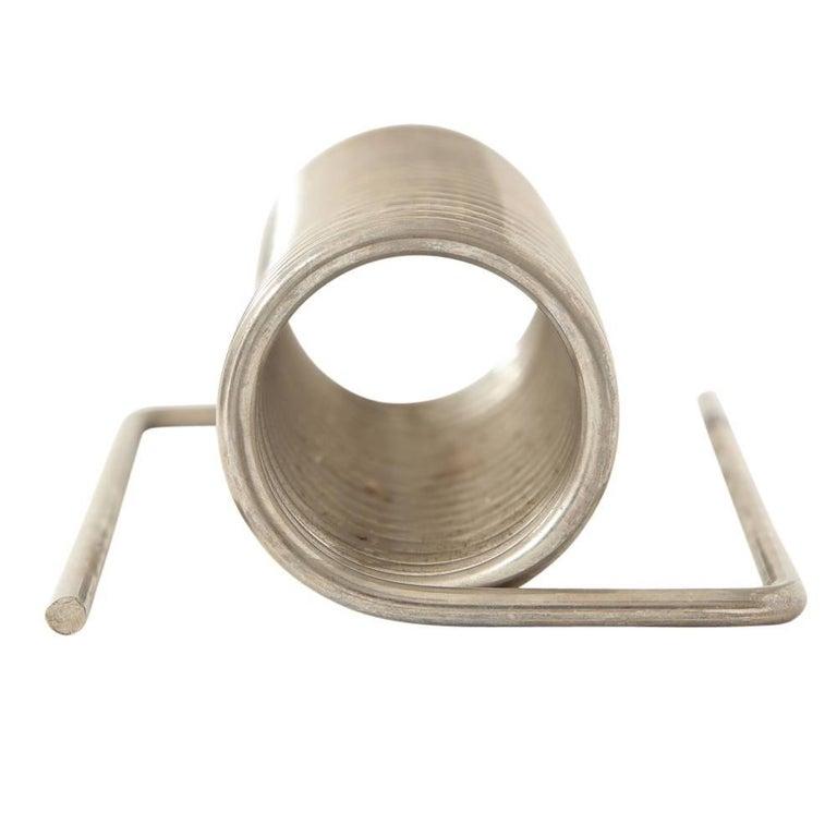 Steel Lebovici Letter Holder, Ressort, Nickel, Signed For Sale