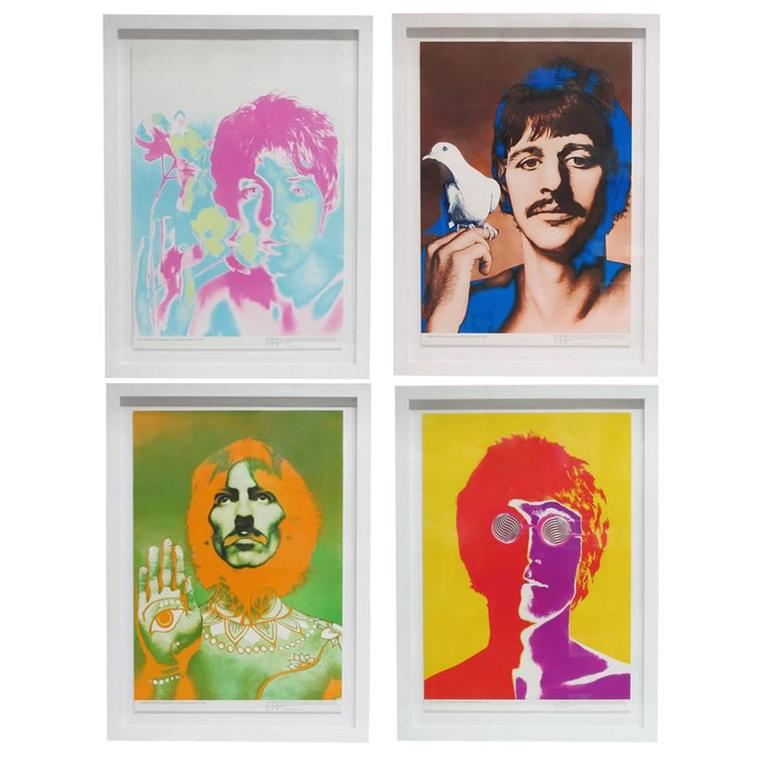Beatles By Richard Avedon Psychedelic Posters For Stern Magazine England 1967 Sale