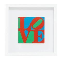 Robert Indiana Love Screenprint MOMA Pop Art Red Green Blue USA, 1960's