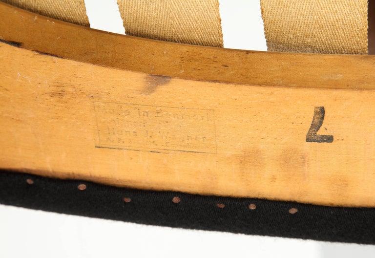 Hans Wegner Papa Bear Chair and Ottoman Teak A.P. Stolen Signed Denmark, 1960s 10
