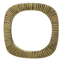 Bronze Mirror Ribbed, France, 1970s