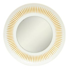 Hutschenreuther Porcelain Mirror Gold Sunburst Signed Germany, 1960s