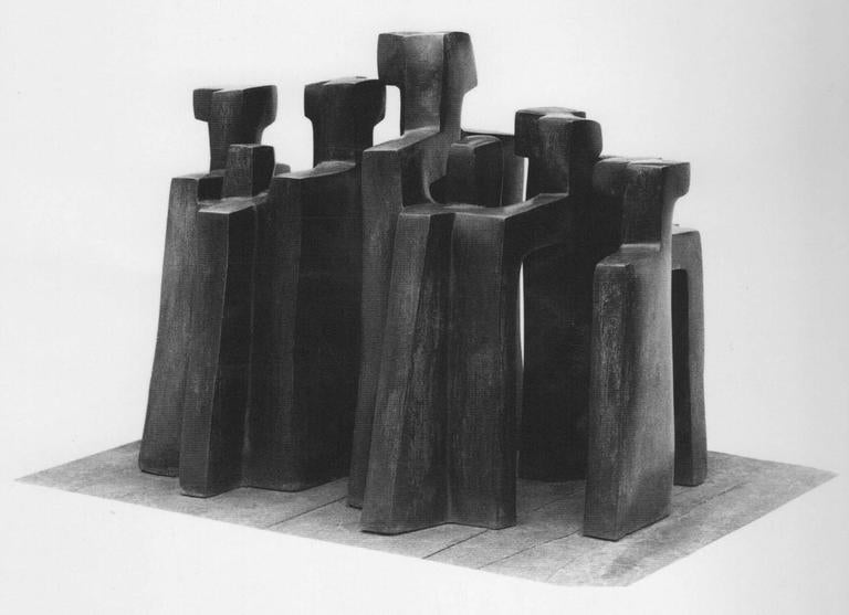 Historical Bronze Sculpture by Parvine Curie, 1972 3