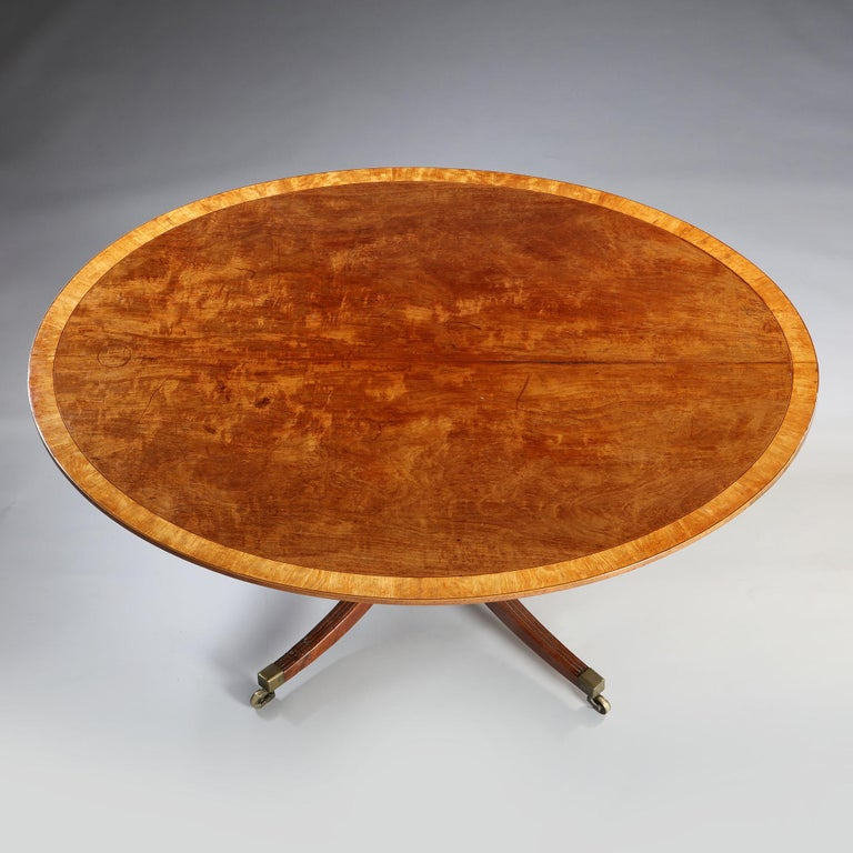 English Large Mahogany Oval Breakfast Table For Sale