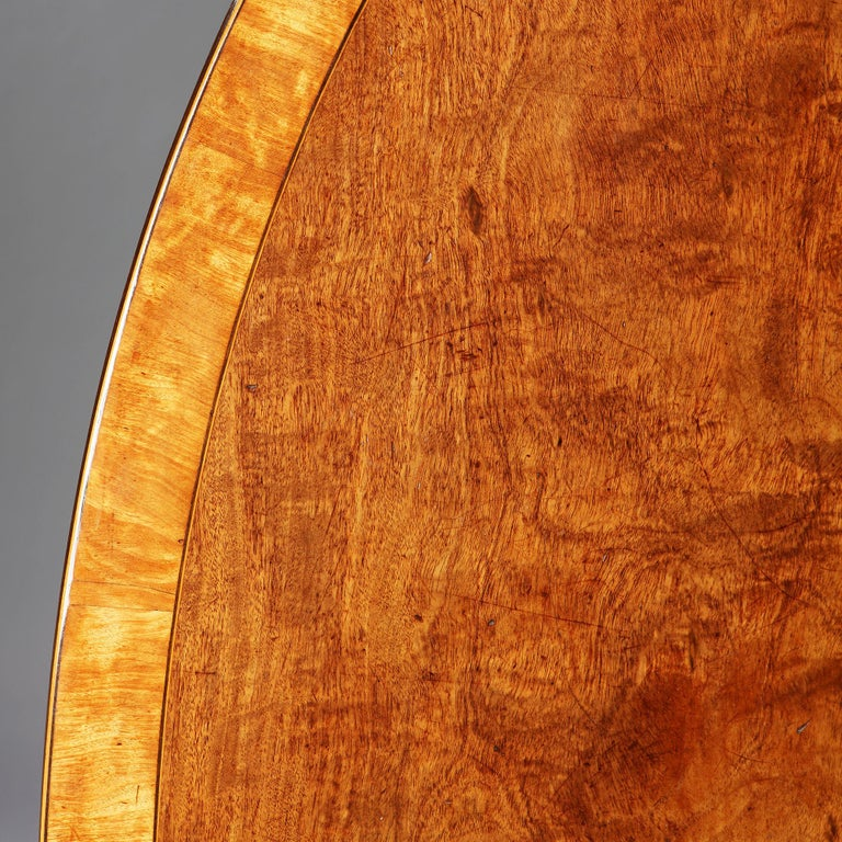 Large Mahogany Oval Breakfast Table For Sale 1