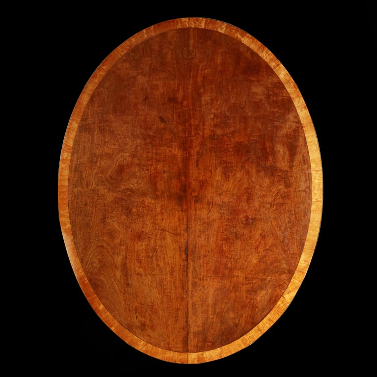 Large Mahogany Oval Breakfast Table For Sale 2