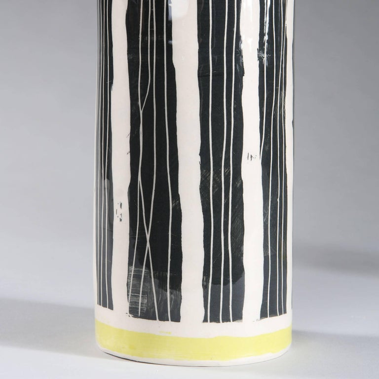 English Pair of Studio Pottery Vases as Lamps For Sale