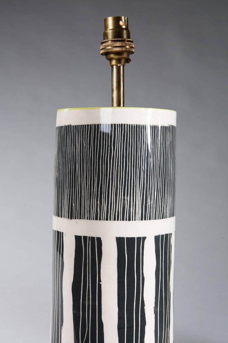Pair of Studio Pottery Vases as Lamps In New Condition For Sale In London, GB