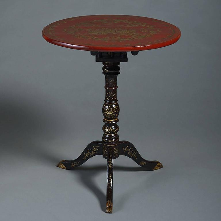 Fine 19th century canton lacquer occasional table at 1stdibs for Table 6 in canton