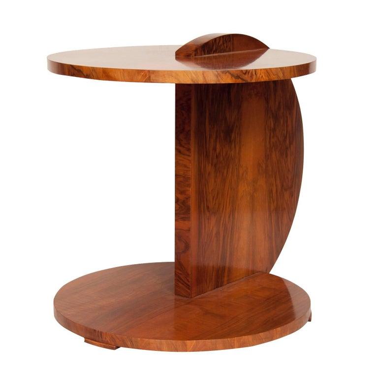 art deco gueridon in a beautiful walnut at 1stdibs. Black Bedroom Furniture Sets. Home Design Ideas