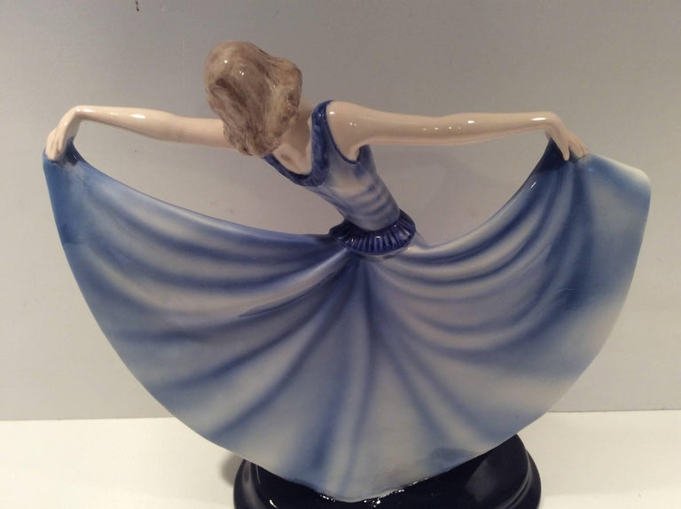 Art Deco Goldscheider Figure of a Dancing Girl For Sale 1