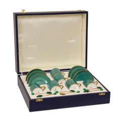 Boxed Set of Six Coffee Cups and Saucers by T Goode & Co
