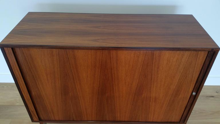 Marius Byrailsen Rosewood Tambour Door Cabinet For Sale At 1stdibs