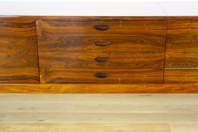 La Credenza Uk : Uniflex mid century modern design rosewood sideboard credenza with