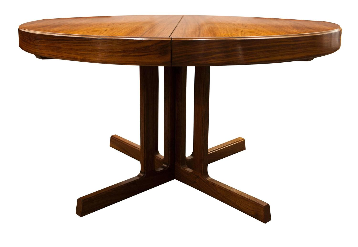 Mid Century Modern Design Rosewood Dining Table And Six Chairs Image 2