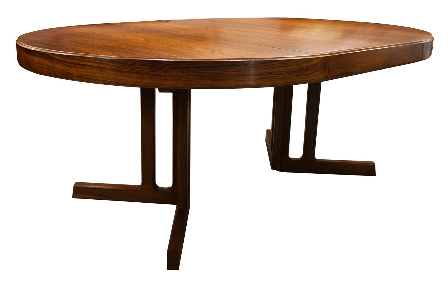 Mid century modern design rosewood dining table and six for Modern dining table and chairs