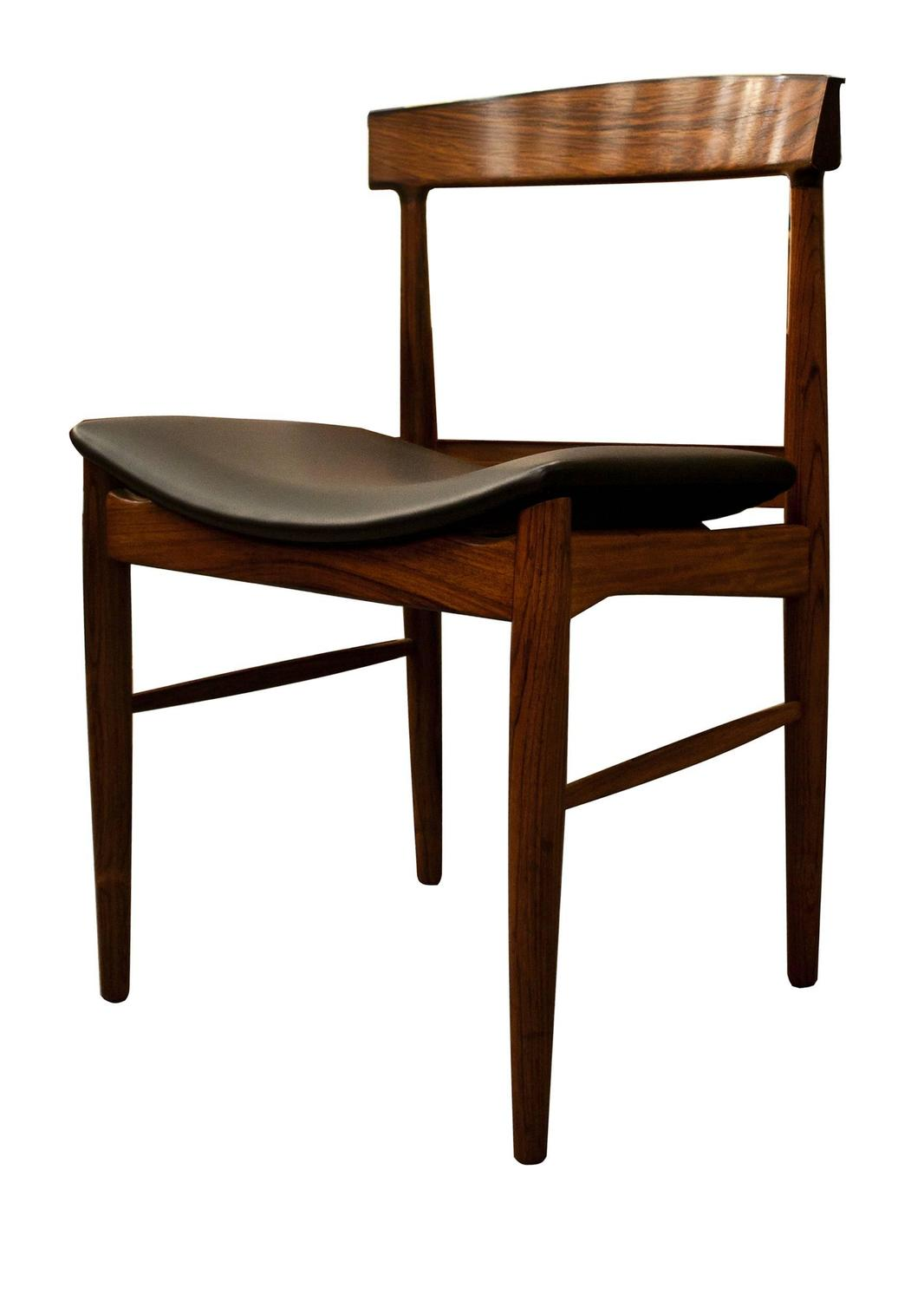 Mid Century Modern Design Rosewood Dining Table And Six Chairs Image 4