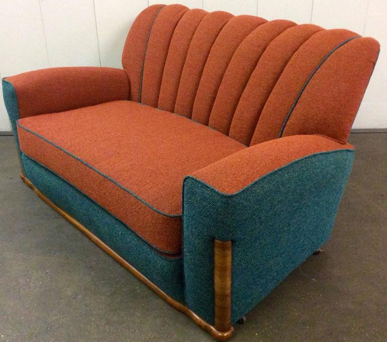 Art deco lounge suite newly upholstered at 1stdibs - Lounge deco ...