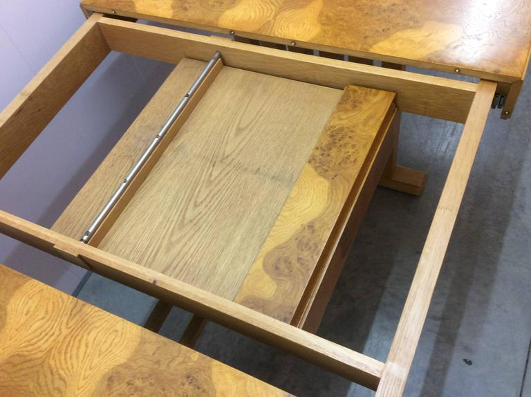 Elm Mid-20th Century Extendable Dining Table For Sale