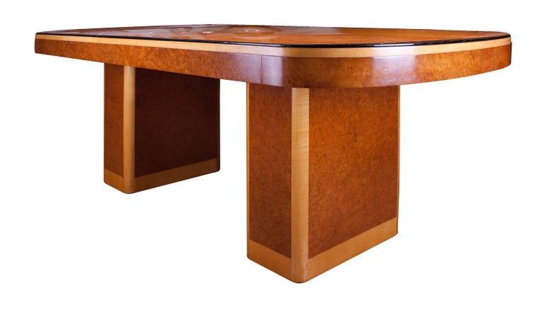 Epstein art deco dining table and six chairs for sale at 1stdibs - Epstein art deco furniture ...