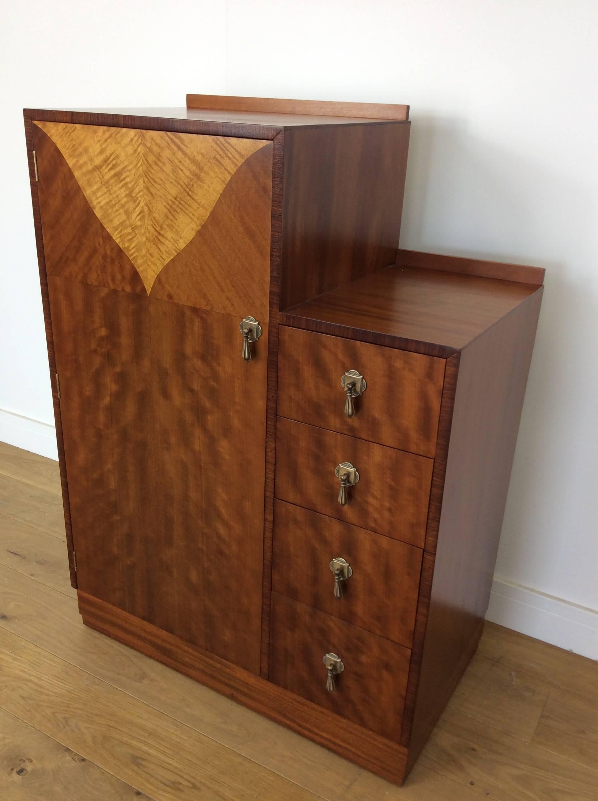English Art Deco Bedroom Set In Satin Maple By Maple U0026 Co.