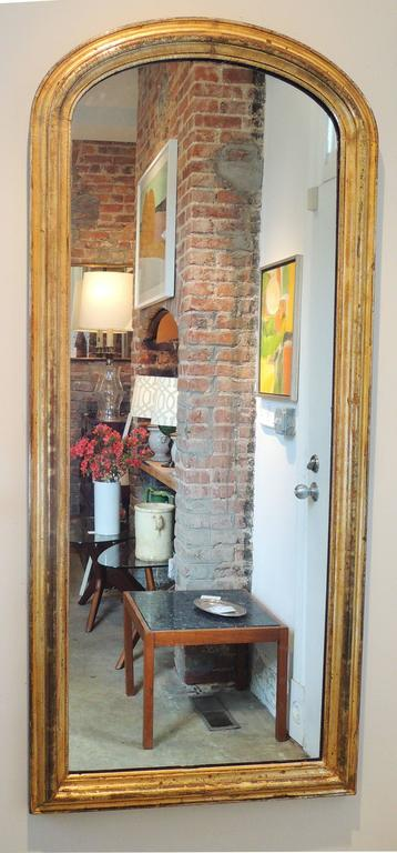 Oval Arched Full Length 19th Century Mirror At 1stdibs
