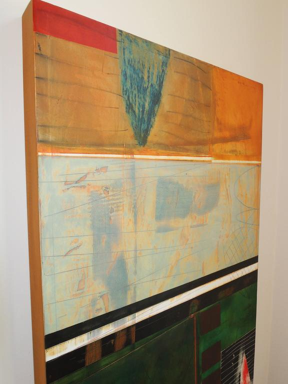 Contemporary Abstract Landscape Painting by Tom Paiement For Sale