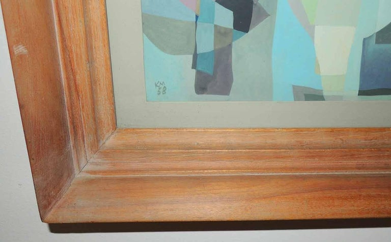Abstract painting of an interior by Keith Martin, (Am. 1911-1983).