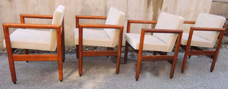 Mid-Century Modern Thonet Armchairs Set of Four, circa 1960 For Sale