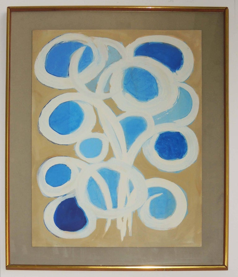 Mid-Century Modern Abstract Painting by Emlen Etting