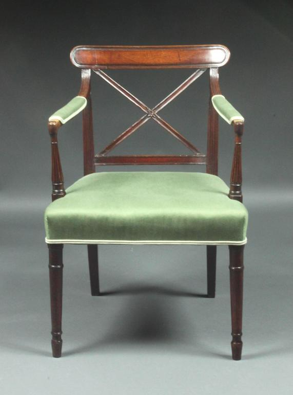 Set Of 14 Sheraton Dining Chairs For Sale At 1stdibs