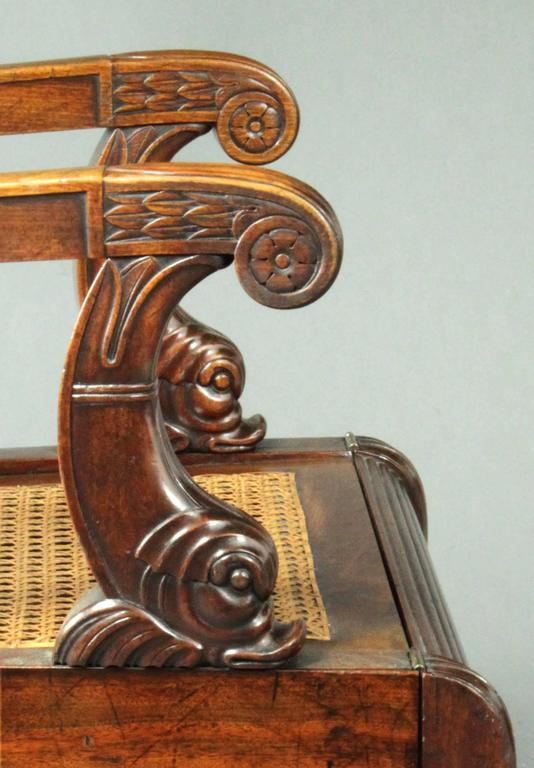 English Regency Mahogany Metamorphic Library Chair For Sale
