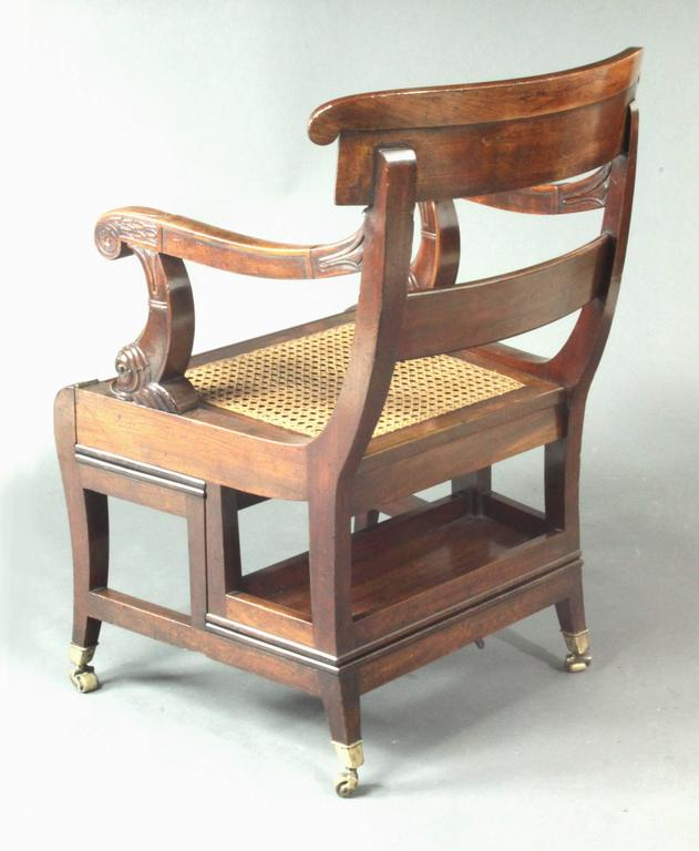 Early 19th Century Regency Mahogany Metamorphic Library Chair For Sale