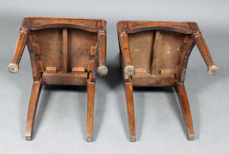 Pair of Antique Hall Chairs For Sale 1 - Pair Of Antique Hall Chairs For Sale At 1stdibs