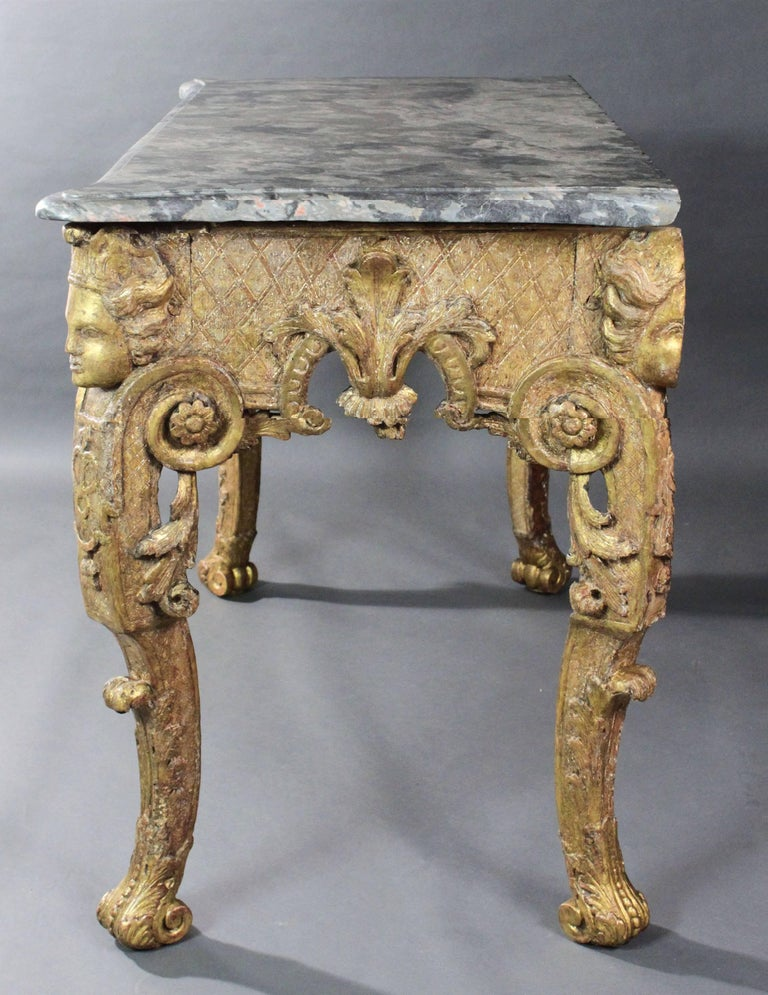 Late 17th Century Gilt wood Console Table In Good Condition For Sale In Bradford-on-Avon, Wiltshire