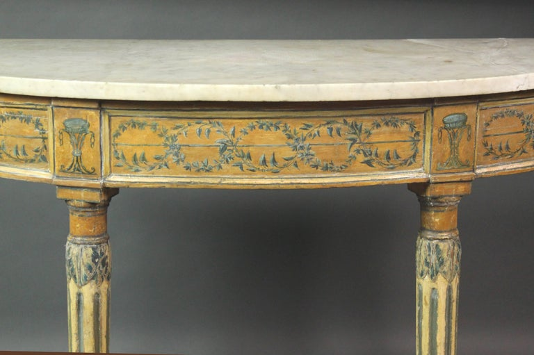 Italian Pair of 18th Century Side or Console Tables For Sale