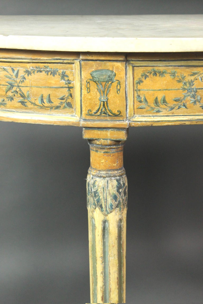 Painted Pair of 18th Century Side or Console Tables For Sale