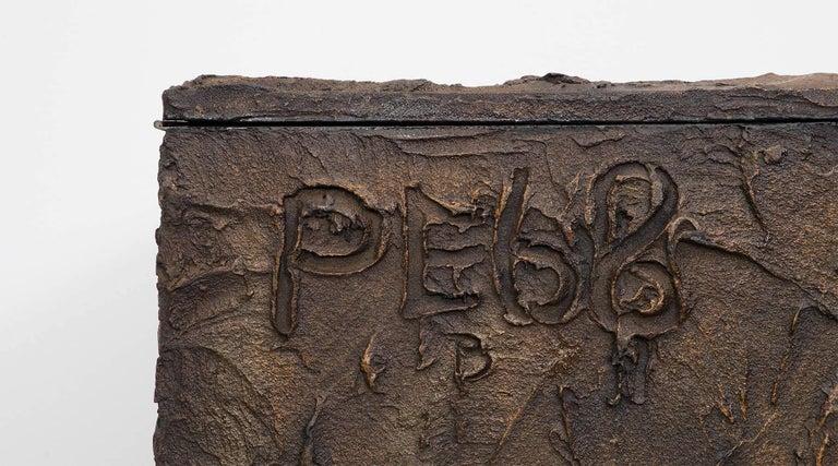 1960s Braun Bronze Harz Wand-Sideboard by Paul Evans 8