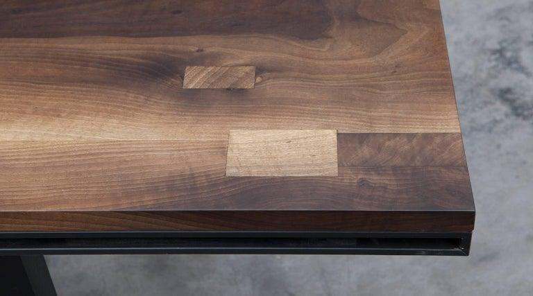 Modern Contemporary Walnut Desk by Johannes Hock 'e' For Sale