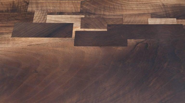 German Contemporary Walnut Desk by Johannes Hock 'e' For Sale