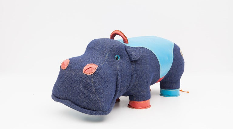 Mid-Century Modern 2000s High-Quality Children Toy 'Hippo' by German Renate Müller 'a' For Sale