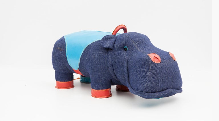 Contemporary 2000s High-Quality Children Toy 'Hippo' by German Renate Müller 'a' For Sale
