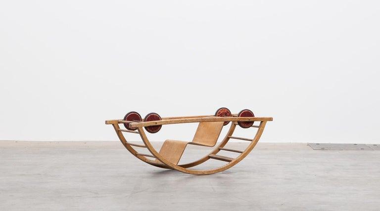 Mid-Century Modern 1950s Children's Swing Cart by Hans Brockhage 'a' For Sale