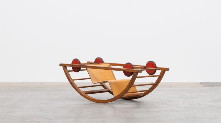 Metal 1950s Children's Swing Cart by Hans Brockhage 'b' For Sale
