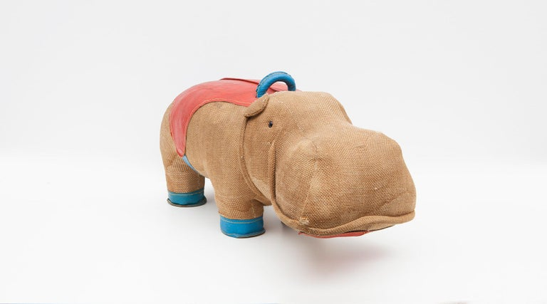 1970s High Quality Children Toy 'Hippo' by German Renate Müller 'd' In Good Condition For Sale In Frankfurt, Hessen, DE