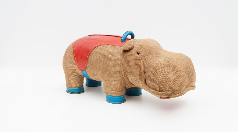 Late 20th Century 1970s High Quality Children Toy 'Hippo' by German Renate Müller 'd' For Sale