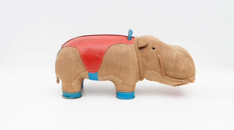 Leather 1970s High Quality Children Toy 'Hippo' by German Renate Müller 'd' For Sale
