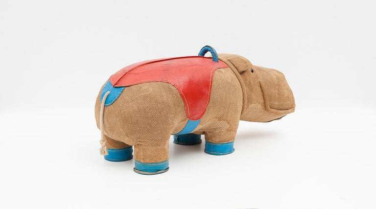 1970s High Quality Children Toy 'Hippo' by German Renate Müller 'd' For Sale 1