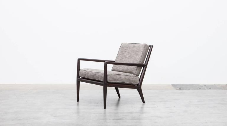 Mid-Century Modern Pair of T. H. Robsjohn-Gibbings Lounge Chairs * NEW UPHOLSTERY * For Sale